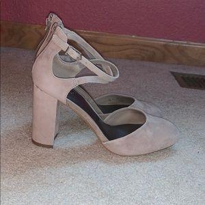 Suede Light Gray Heels